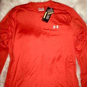 Under Armour Tangerine Dark Long Sleeve Shirt XL